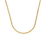 14k Yellow Gold Diamond Cut Square Spiga Link Chain Necklace 18 inch
