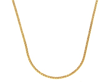Picture of 14k Yellow Gold Diamond Cut Square Spiga Link Chain Necklace 20 inch