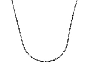14k White Gold Square Spiga Wheat Link Chain Necklace 16 inch 0.5mm