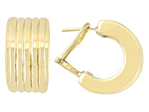 14k Yellow Gold Multi-Row Huggie Earrings Tubing