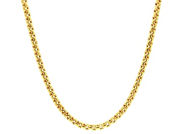 Picture of 14k Yellow Gold Hollow Box Link Chain Necklace 20 inch
