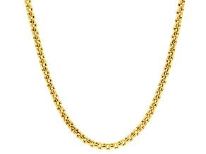 14k Yellow Gold Hollow Box Link Chain Necklace 20 inch