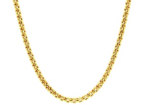 14k yellow gold hollow box link chain necklace 22 inch