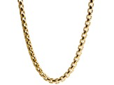 14k Yellow Gold Hollow Box Link Chain Necklace 24 inch