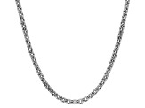 14k White Gold Hollow Box Link Chain Necklace 22 inch