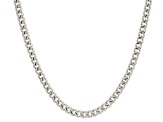 14k white gold hollow franco link chain necklace 22 inch