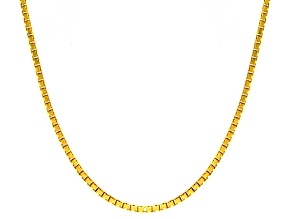 14k Yellow Gold Hollow Octagonal Box Link Chain Necklace 22 inch