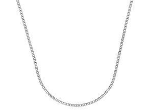 14k White Gold Diamond Cut Square Spiga Chain Necklace 24 inch