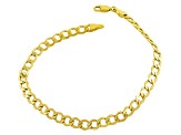 10k Yellow Gold Hollow 5.5mm Curb Link Bracelet 8.5 inch