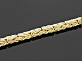 10k Yellow Gold Hollow 4mm Byzantine Link Bracelet 7.5 inch