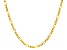 14k Yellow Gold Figaro Link Chain Necklace 16 inch 3mm