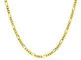 14k Yellow Gold Figaro Link Chain Necklace 18 inch 3mm