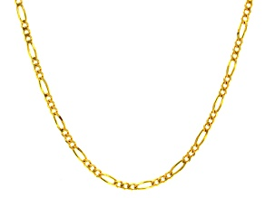 14k yellow gold figaro link chain necklace 24 inch 3mm