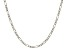 14k White Gold Figaro Link Chain Necklace 20 inch 3mm