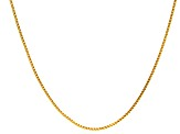 14k Yellow Gold Square Box Link Chain Necklace 20 inch