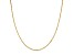 14k Yellow Gold Singapore Link Chain Necklace 16 inch 2mm