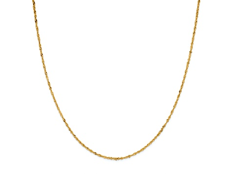 14k Yellow Gold Singapore Link Chain Necklace 18 inch 2mm
