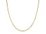 14k Yellow Gold Singapore Link Chain Necklace 20 inch 2mm