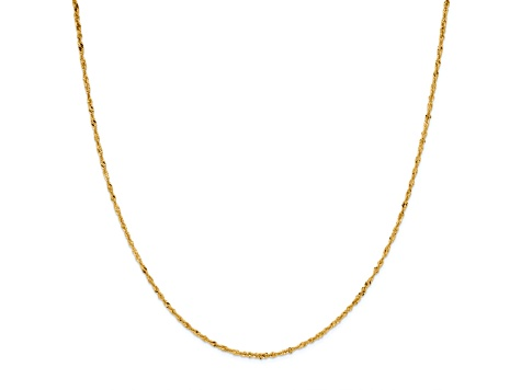 14k Yellow Gold Singapore Link Chain Necklace 24 inch 2mm