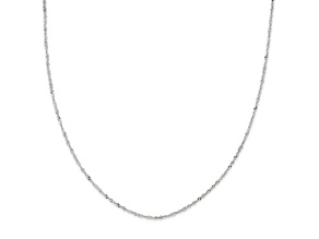 14k White Gold Singapore Link Chain Necklace 20 inch 2mm