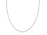 14k White Gold Singapore Link Chain Necklace 24 inch 2mm