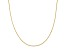 14k Yellow Gold Criss Cross Chain Necklace 16 inch