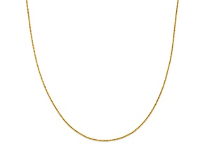 14k Yellow Gold Criss Cross Chain Necklace 18 inch