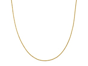 14k Yellow Gold Criss Cross Chain Necklace 20 inch