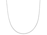 14k White Gold Criss Cross Chain Necklace 16 inch