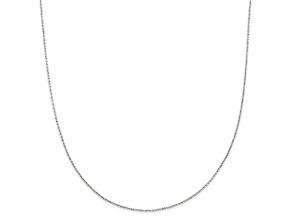 14k White Gold Criss Cross Chain Necklace 18 inch
