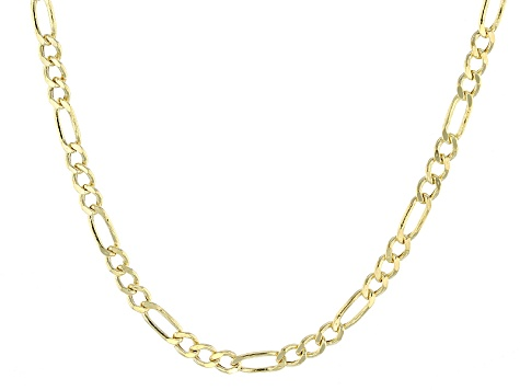 d6c831f9cf8e 14k Yellow Gold Hollow Figaro Link Chain Necklace 18 inch 3mm ...