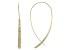 14k Yellow Gold Hollow Diamond Cut Threader Earrings