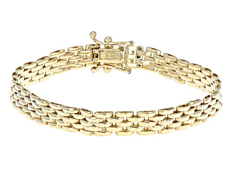 5b1a3a872 14k Yellow Gold Panther Link Bracelet 7 inch 6mm - BGW756 | JTV.com