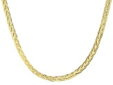 14k Yellow Gold Hollow Herringbone Link Necklace 18 inch