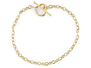 14k Yellow Gold Cable Link Bracelet 7.5 inch