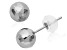 Rhodium Over 14k Yellow Gold Hollow Ball Stud Earrings