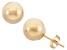 14k Yellow Gold Hollow Ball Stud Earrings