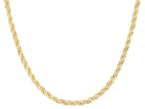14k Yellow Gold Hollow Popcorn Link Necklace 20 inch