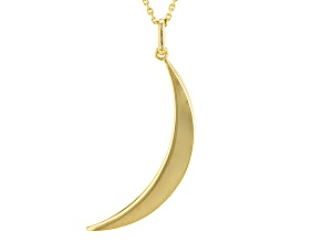 10k Yellow Gold Moon Pendant With Chain 18 inch