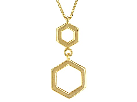 10k Yellow Gold Geometric Necklace 18 inch