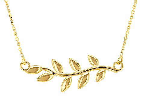 10k Yellow Gold Vine Necklace 18 inch