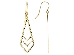 10k Yellow Gold Geometric Dangle Earrings