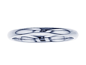 10k White Gold 2mm Band Ring