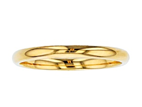 10k Yellow Gold 2mm Band Ring