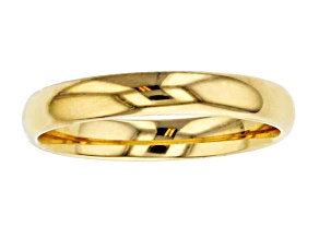 10k Yellow Gold 3mm Band Ring