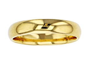 10k Yellow Gold 4mm Band Ring