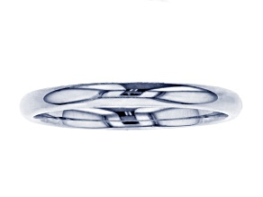 10k White Gold Comfort Fit Band Ring 2mm
