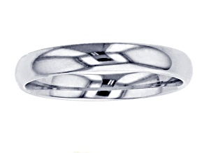 10k White Gold Comfort Fit Band Ring 3mm