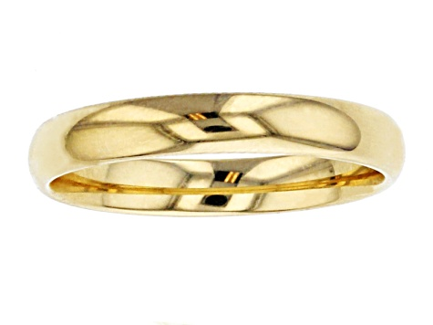 10k Yellow Gold Comfort Fit Band Ring 3mm