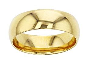 10k Yellow Gold Comfort Feel Wedding Band 6mm